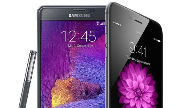 Galaxy Note Edge vs iPhone 6