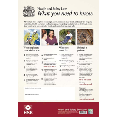 Is Your Businesses Failing To Display The Health And Safety Law Poster