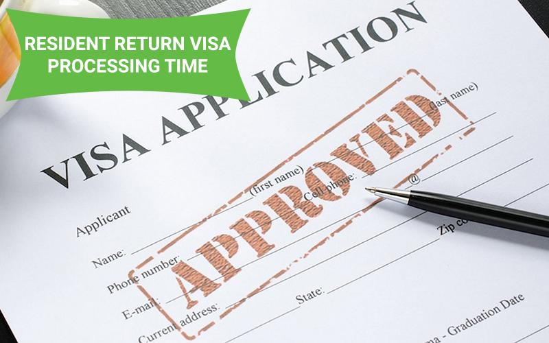 resident return visa processing times